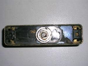 Base della maniglia per il fissaggio al telaio dell'infisso