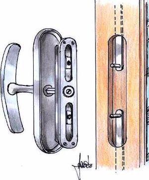 Sostituire una maniglia rotta fai da te - Meccanismo cremonese finestra ...