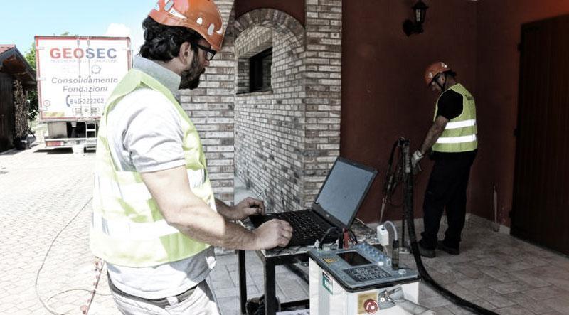 Rinforzo fondazioni e monitoraggio GEOSEC