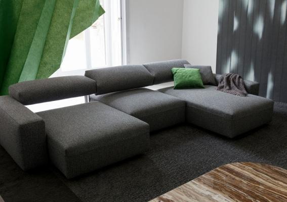 Come disporre il divano - Divano al centro della stanza ...
