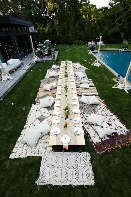 Tavola Pool party di Chic Neverland
