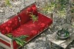 Salotto giardino Costes Rosso di Ethimo