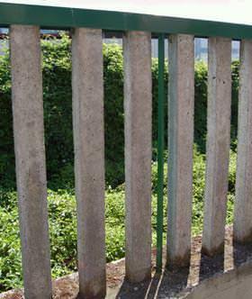 Consolidamento recinzione in cemento