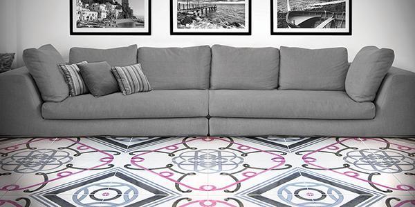 Maioliche di grande formato, collezione Foulard, by Vietri Ceramic Group