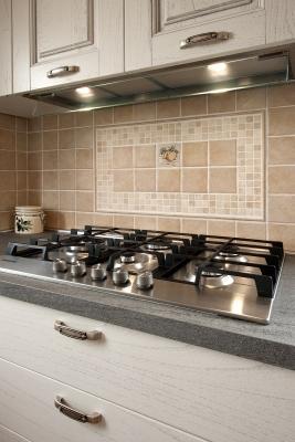 Cucine su misura dettaglio piano cottura