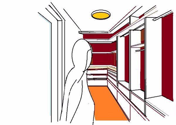 Moduli cabina armadio ad angolo
