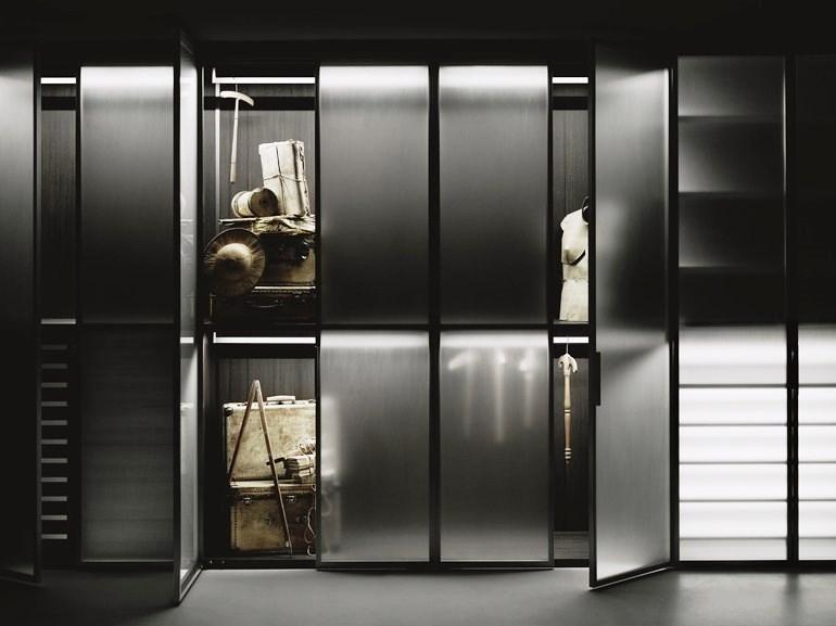 Cabina armadio Antibes Boffi: la materia si fa luce e spazio