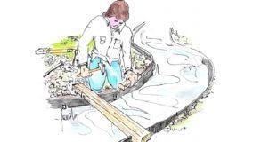 Vialetto economico in ghiaia per il giardino
