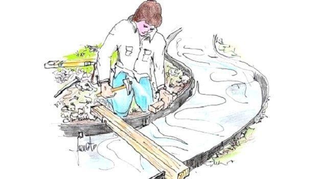 Economici e decorativi vialetti in ghiaia per il giardino