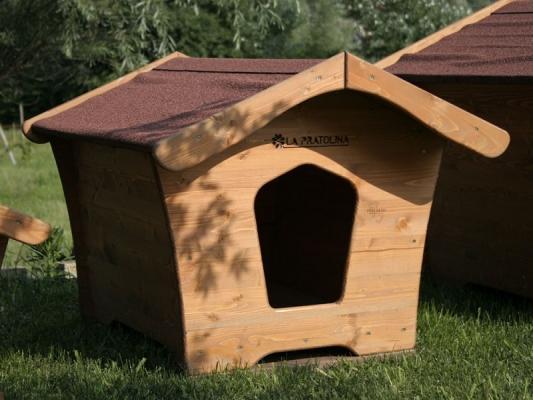 La Pratolina: cuccia per cane in legno, dal sinuoso design