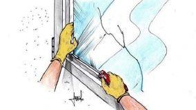 Sostituzione vetro rotto fai da te