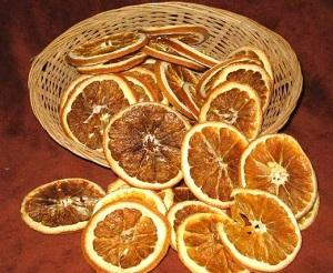 Fettine d'arancia essiccate
