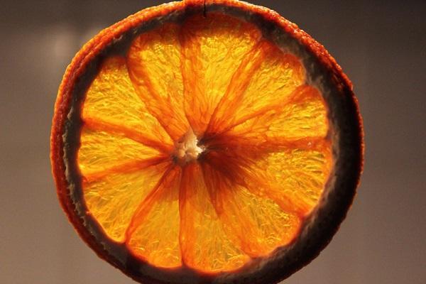 Fetta d'arancia essiccata
