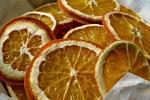 Fette di arance essiccate