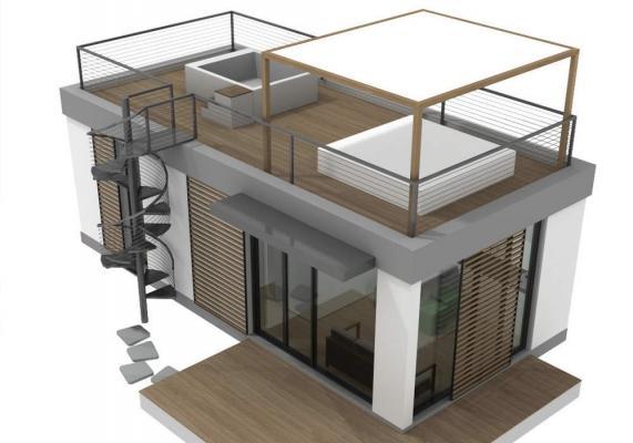Mini casa prefabbricata T04 di C.M.C.2.0