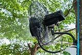 Ventilatore con nebulizzatore da esterno