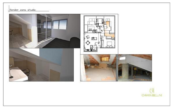 Progetto mansarda: studio
