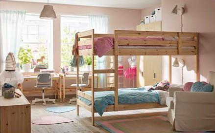 Mansarda come progettare una cameretta - Ikea letto a castello mydal ...