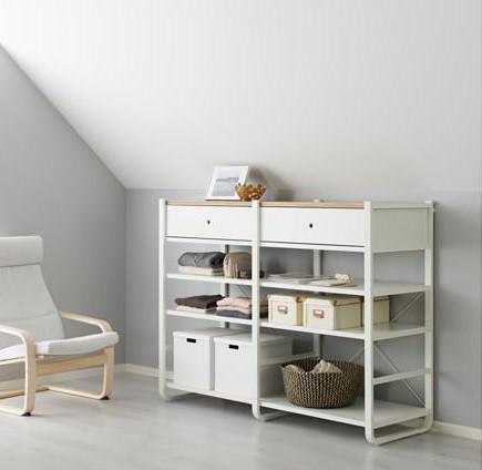 Realizzare un guardaroba in mansarda con Elvarli, di Ikea