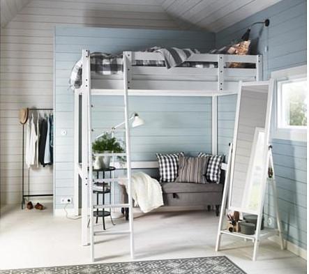 Camerette in mansarda: strutture a soppalco per ottimizzare lo spazio - Ikea