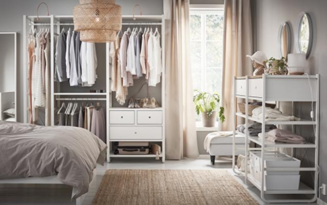 Cameretta in mansarda: guardaroba Elvarli - Ikea