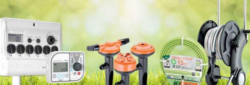 Erba da giardino, i prodotti per l'irrigazione fuoriterra di Claber