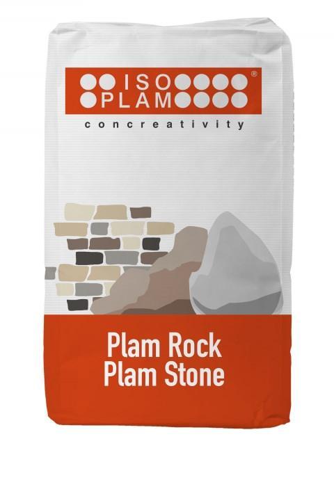 Intonaco stampato Plam Stone di Isoplam per imitare le pietre naturali