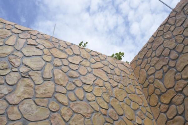 Intonaco effetto pietra Plam Stone di Isoplam