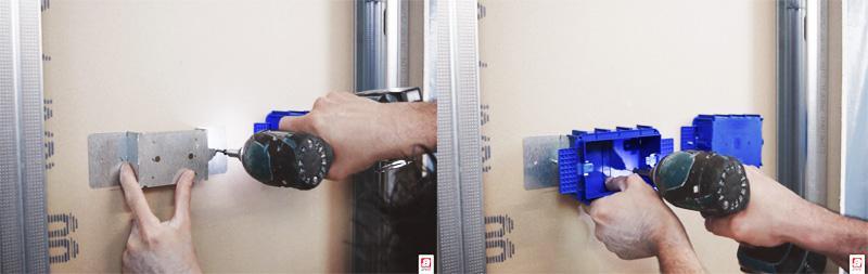 Applicazione di scatola elettrica AVE su staffa differenziale