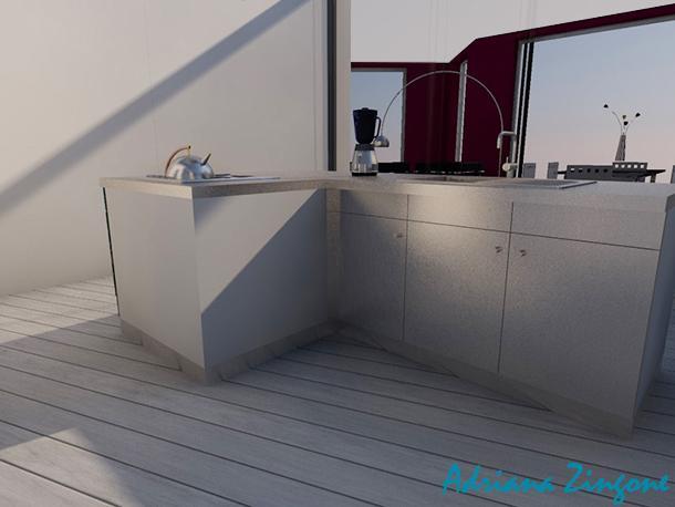Divisori per open space for Piccola cucina a concetto aperto
