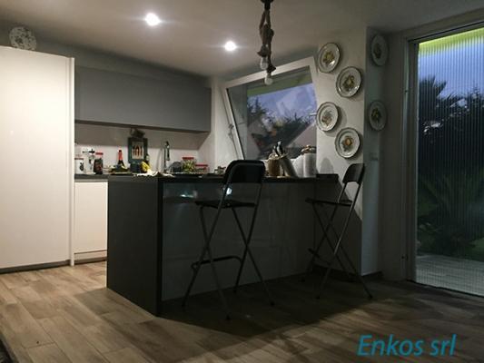 Cucina salotto open space