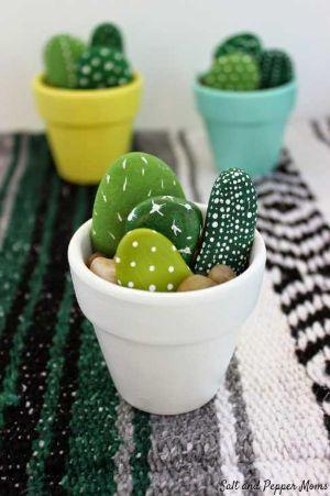 Cactus in pietre progetto di Saltandpeppersmums