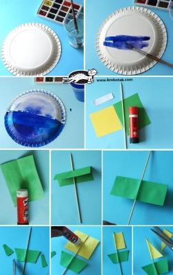 Step 1 creazione decorazione con piatto di carta di krokotak.com