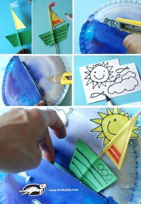 Step 2 creazione decorazione con piatto di carta di krokotak.com