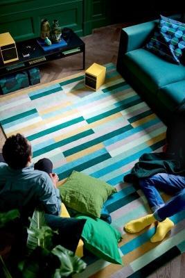 Tappeto colorato KRÖNGE di Ikea