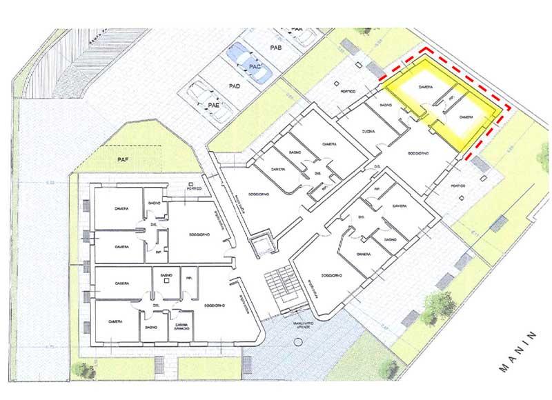 Planimetria condominio Modena per consolidamento terreni Difech