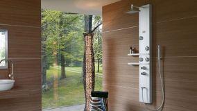 Rilassarsi nella doccia grazie alle colonne idromassaggio