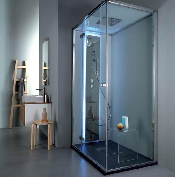 Colonna doccia idromassaggio Aquasteel di Grandform
