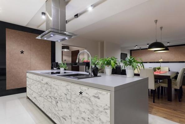 Rivestimenti decorativi Sibu design *dm marble white e *dm classy bronze