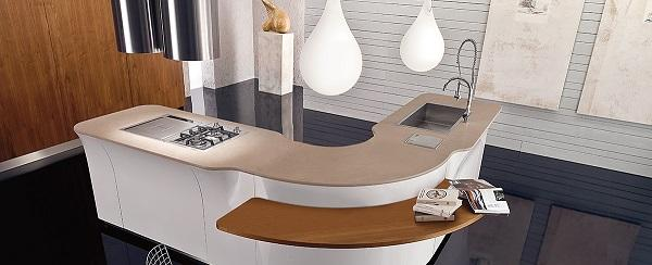 Cucina componibile curva di design