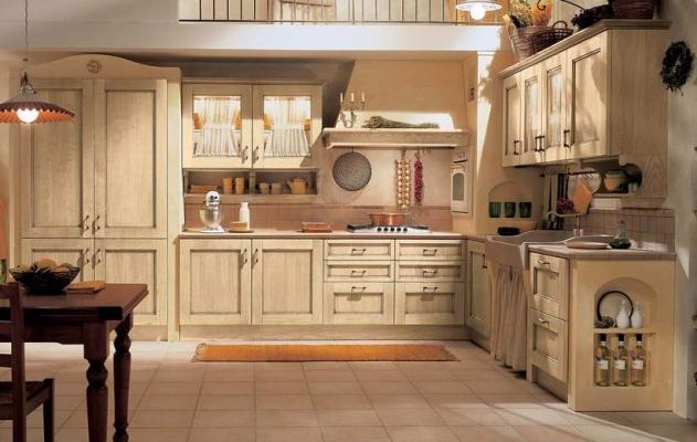 In cucina la proposta classica  Certosa avorio di Febal