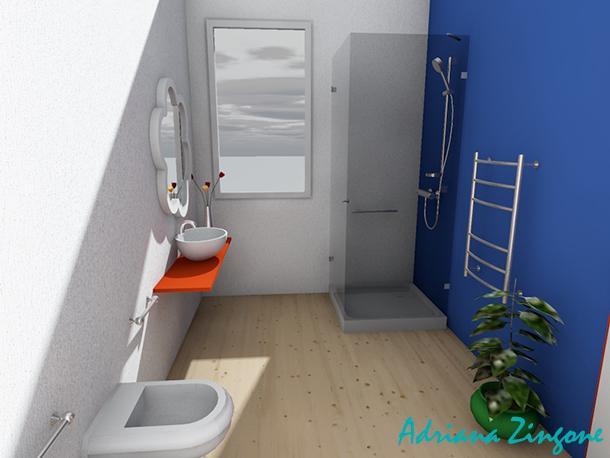 Mini bagno progetto idee decorazioni - Bagni piccoli con doccia ...