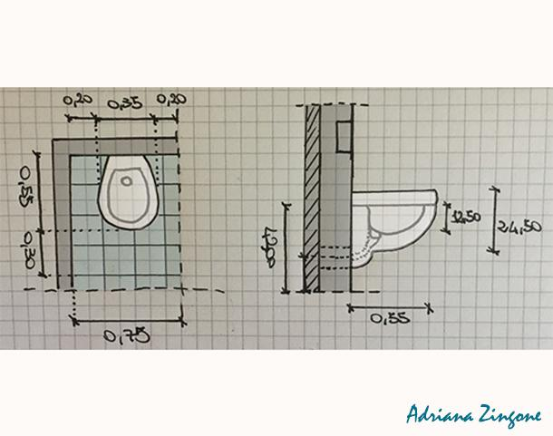 Mini bagno progetto idee decorazioni - Misure bagno minime ...