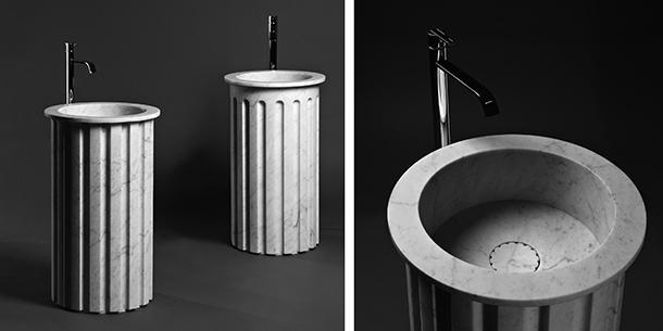 Lavabo atlante Antonio Lupi per mini bagno
