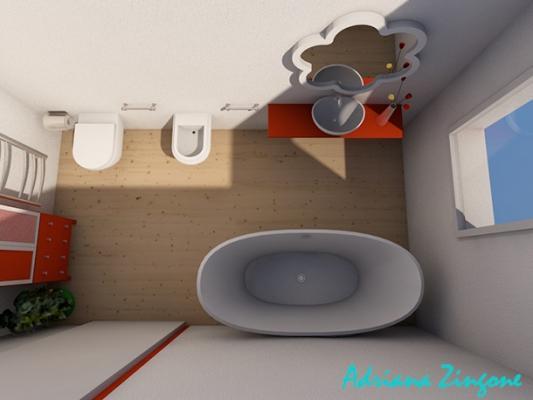 Mini bagno progetto idee decorazioni - Creare un bagno in poco spazio ...