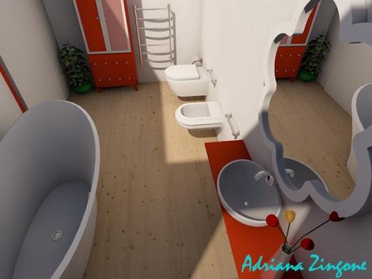 Mini bagno progetto idee decorazioni - Progetto piccolo bagno ...