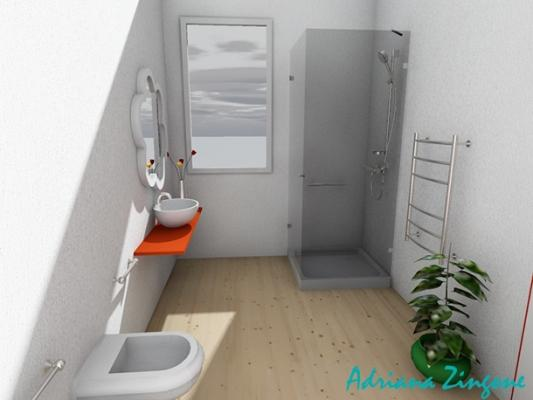 Progetto bagno 6mq con doccia