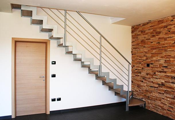 Scale acciaio legno by Mondolfo