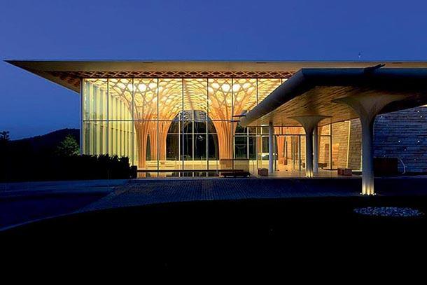 Architettura in bamboo: Nine Bridge