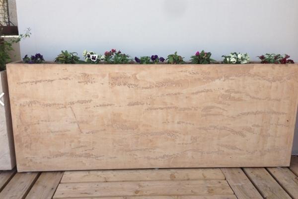 Vaso da esterno rettangolare di Martin Design